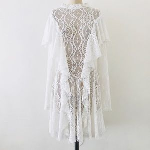 FREE PEOPLE | Cotton Lace Crochet Ruffle Dress